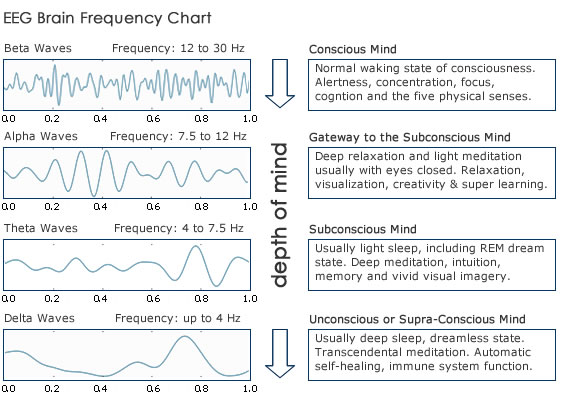 A brainwave chart of your subconscious mind.